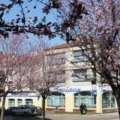 Centre de Feurs au printemps